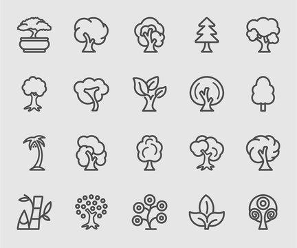 Tree line icon