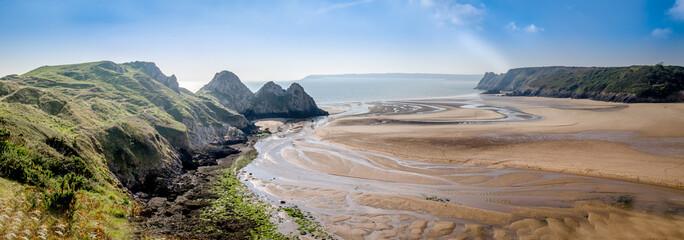 Three Cliffs Bay, Swansea, Wales, United Kingdom.