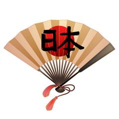 Fan in japanese style