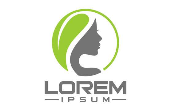 natural beauty salon hair treatment logo icon