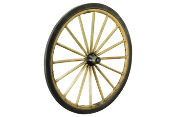 Vintage wheels Isolated on white background