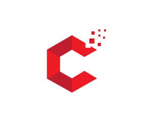 C symbol letter logo