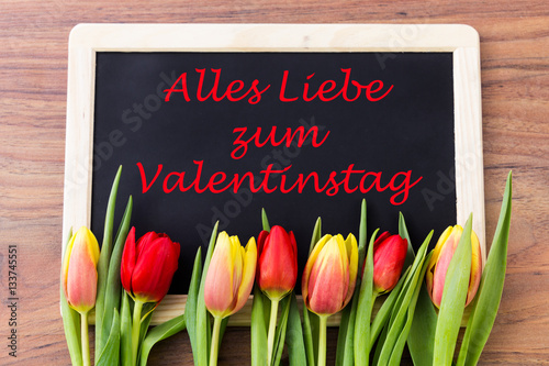 valentinstag tafel zum beschriften stock photo and. Black Bedroom Furniture Sets. Home Design Ideas