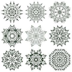 Set of mandalas