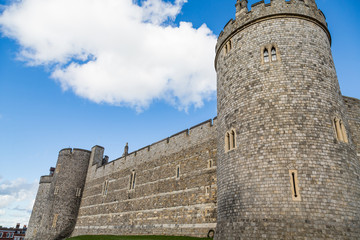 Wall and Turrets of Windsor Castle