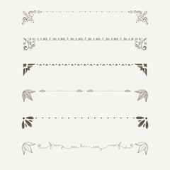 Ornament Elementen, Linien und Winkel Design Elemente, handgezeichnete Vektor Serie