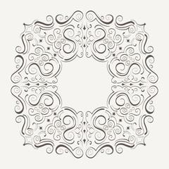 Ornament Rahmen, Linien und Winkel Design Elemente, handgezeichnete Vektor Serie