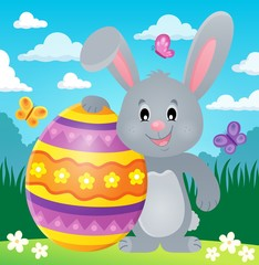 Stylized bunny with Easter egg theme 2