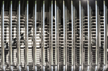 Wall Mural - closeup of vintage chromed vehicle grille
