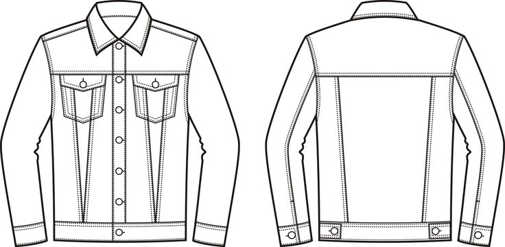 Jean jacket. Front and back