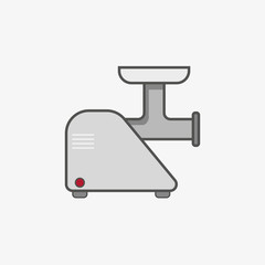 A simple icon for a meat grinder  as unit of kitchen equipment
