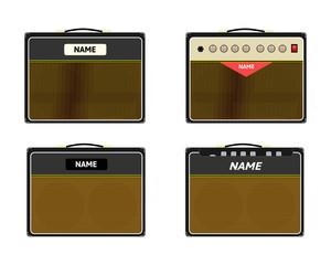 Set of guitar amplifier