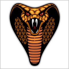 Snake head on white - vector illustration