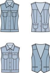 Jean vest set