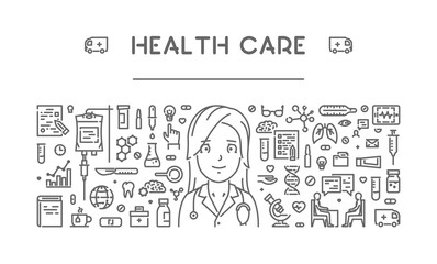 Vector line concept for health care