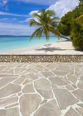 Strandterrasse auf den Malediven