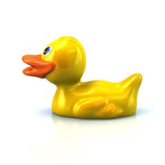 Duck icon 3d rendering