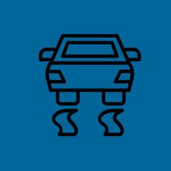 car esp icon flat disign