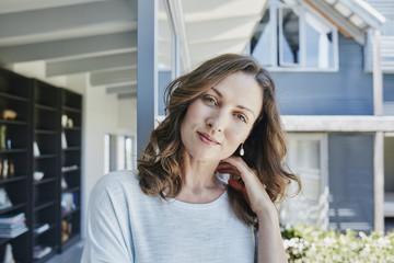 Woman at home, portrait