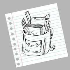 School bag doodle