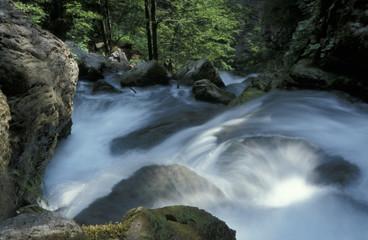 In de dag Fantasie Landschap Waterfall Treffling, Austria, Lower Austria, Oetscher Mariazell,