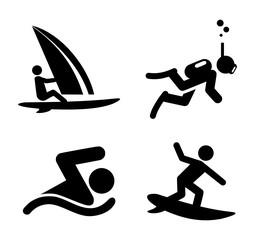 Icons Wassersport