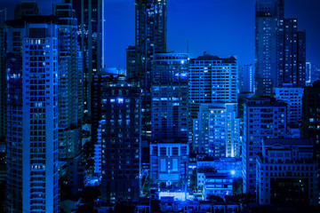 abstract blue nigjt cityscape for background - can use to display or montage on product