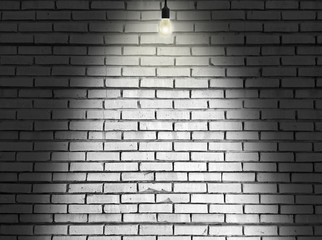 Badly Lit Stone Wall Background