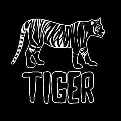 Tiger logo design for use, vector illustration.