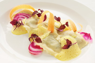 fresh ravioli plated appetizer starter