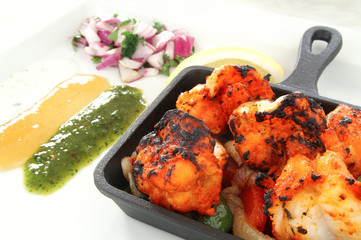 indian king prawn tikka
