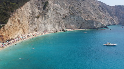 Cliff panorama with beauty lagoon