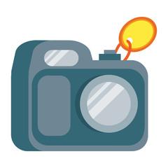 Camera Vector Illustration in Flat Design