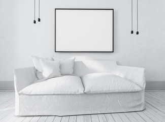 Large comfortable white couch or day bed