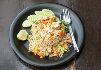 Fried rice meal served on a plate