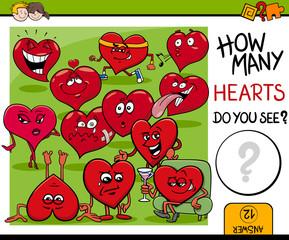 how many hearts activity