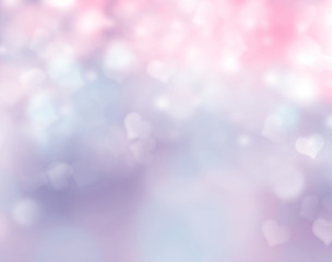Abstract background blur with hearts.Holiday wallpaper.