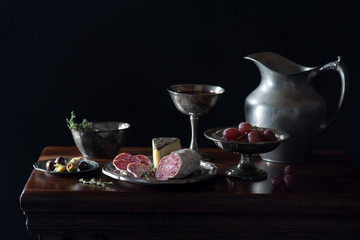 Meat and Cheese Still Life
