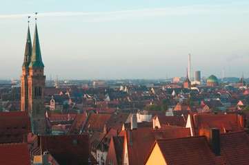 View of the Nuremberg morning