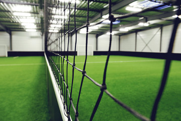 centre sportif, terrain de football en salle