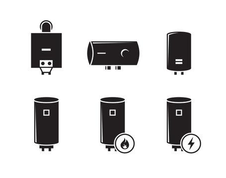 boiler icons set