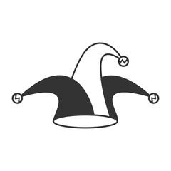 Jester hat icon on white