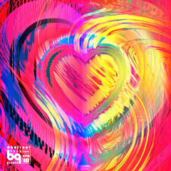 Background Valentines day heart for design
