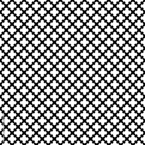 Simple Black White Geometric Texture Endless Ornamental Background Retro