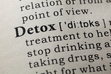 Wall Mural - definition of detox