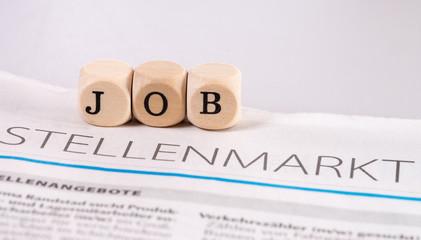 Jobsuche / Tageszeitung mit Stellenanzeigen