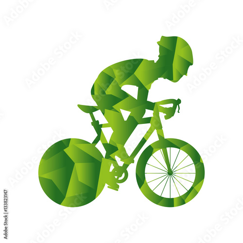 """Avatar 2 X 12: """"person Avatar In Bicycle Vehicle Isolated Icon Vector"""