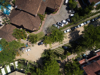 Top View of Street in a Home Village