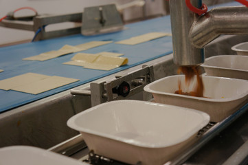 Factory Food Manufacturing - Lasagne Ready Meal Production