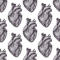 seamless black hearts